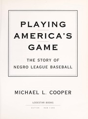 Cover of: Playing America's game