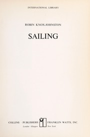 Cover of: Sailing