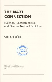 Cover of: The Nazi connection