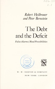 Cover of: The debt and the deficit
