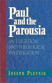Cover of: Paul and the Parousia