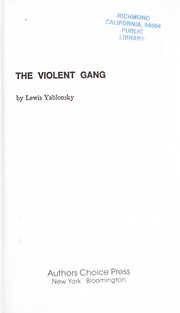 Cover of: The violent gang