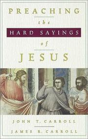 Cover of: Preaching the hard sayings of Jesus