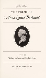 Cover of: The poems of Anna Letitia Barbauld | Anna Laetitia Barbauld