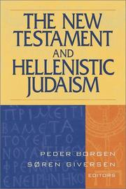 Cover of: The New Testament and Hellenistic Judaism by