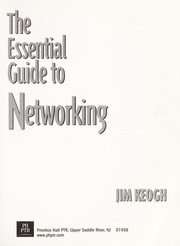 Cover of: The essential guide to networking