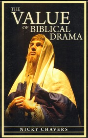Cover of: The Value of Biblical Drama |