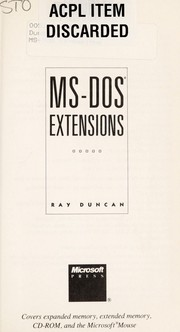 Cover of: MS-DOS extensions | Ray Duncan