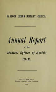 Cover of: [Report 1912] | Haydock (England). Local Board