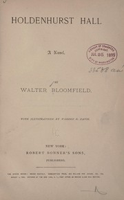 Cover of: Holdenhurst hall | Walter Bloomfield