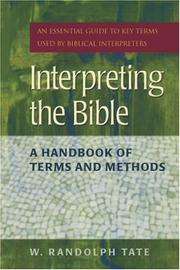Cover of: Interpreting the Bible