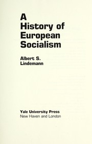 Cover of: A history of European socialism