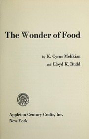Cover of: The wonder of food