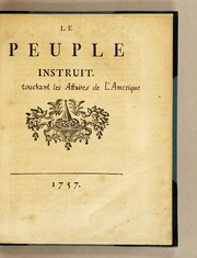 Cover of: Le peuple instruit
