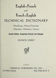 Cover of: English-French and French-English technical dictionary