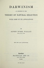 Cover of: Darwinism | Alfred Russel Wallace