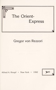 Cover of: The Orient-Express