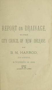 Report on drainage to the City Council of New Orleans