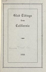 Cover of: Glad tidings from California | Metzner Floral Company