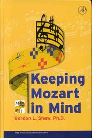 Cover of: Keeping Mozart in Mind