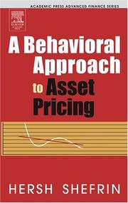Cover of: A Behavioral Approach to Asset Pricing