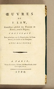 Cover of: Oeuvres de J. Law