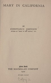 Cover of: Mary in California | Johnson, Constance Fuller (Wheeler) Mrs