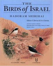 Cover of: The birds of Israel