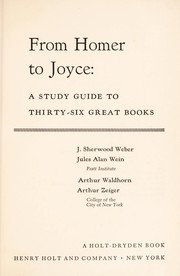 Cover of: From Homer to Joyce; : a study guide to thirty-six great books |