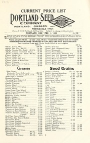 Cover of: Current price list | Portland Seed Company