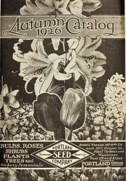 Cover of: Autumn 1926 catalog