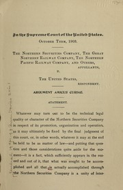Cover of: In the Supreme Court of the United States. October term, 1903, no. 277