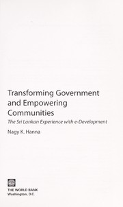 Cover of: Transforming government and empowering communities