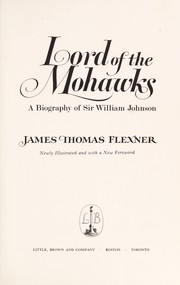 Cover of: Lord of the Mohawks : a biography of Sir William Johnson |
