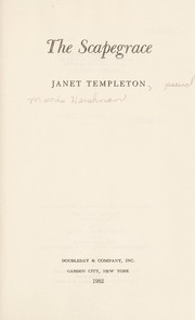 Cover of: The scapegrace | Janet Templeton