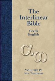 Cover of: The Interlinear Greek-English New Testament | Jay P. Green