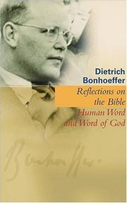 Cover of: Reflections On The Bible: Human Word And Word Of God