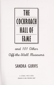 Cover of: The cockroach hall of fame | Sandra Gurvis