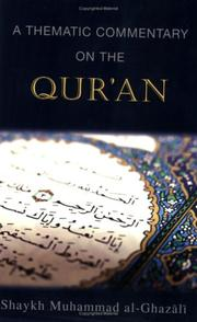 Cover of: thematic commentary on the Qur'an | Muḥammad GhazДЃlД«