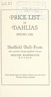 Cover of: Price list of dahlias | Sheffield Bulb Farm