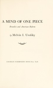 Cover of: A mind of one piece