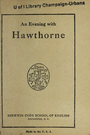 Cover of: An evening with Hawthorne