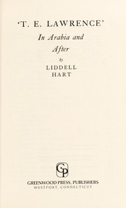 Cover of: 'T.E. Lawrence': in Arabia and after