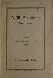 Cover of: Season 1926 -1927 [catalog] | A.W. Steinbring (Firm)