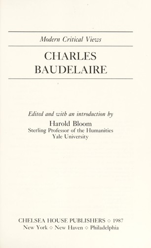 Charles Baudelaire by edited and with an introduction by Harold Bloom.