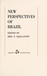 Cover of: New perspectives of Brazil