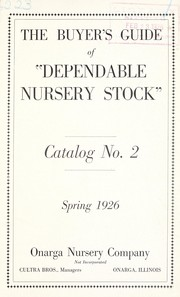 Cover of: The buyer's guide of dependable nursery stock