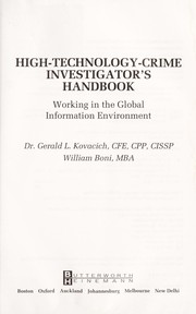 Cover of: High-technology-crime investigator's handbook