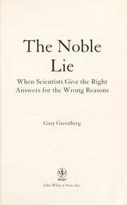 Cover of: The noble lie | Greenberg, Gary