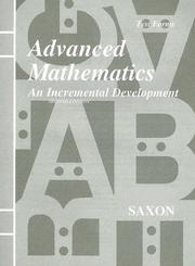 Cover of: Advanced Mathematics | John H., Jr. Saxon